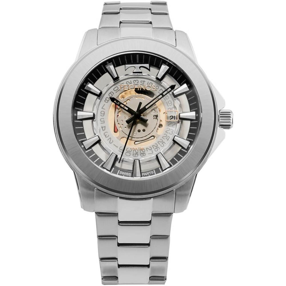 Relógio de Pulso Technos Essence Masculino Máquina Exposta F06111AB