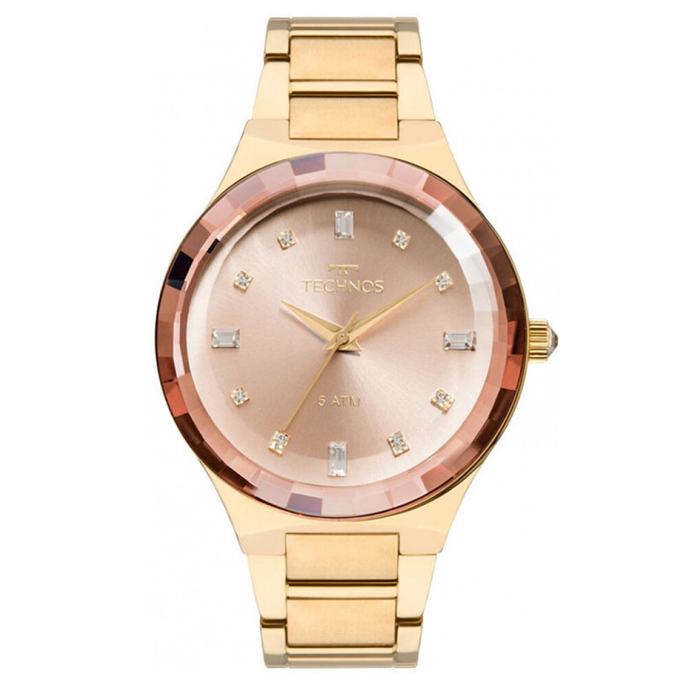 Relógio de Pulso Technos Feminino Elegance Crystal 2036MJK