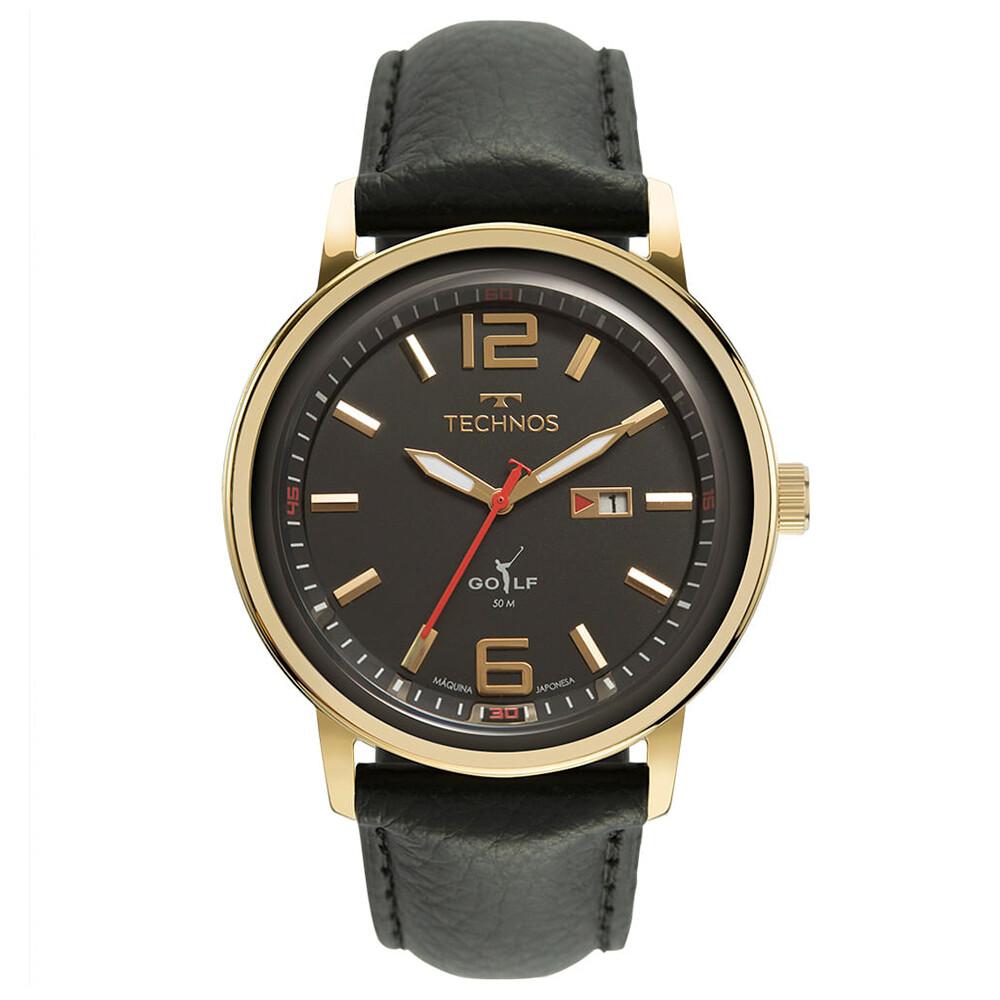 Relógio de Pulso Technos Golf Masculino com Pulseira de Couro 2115MXY