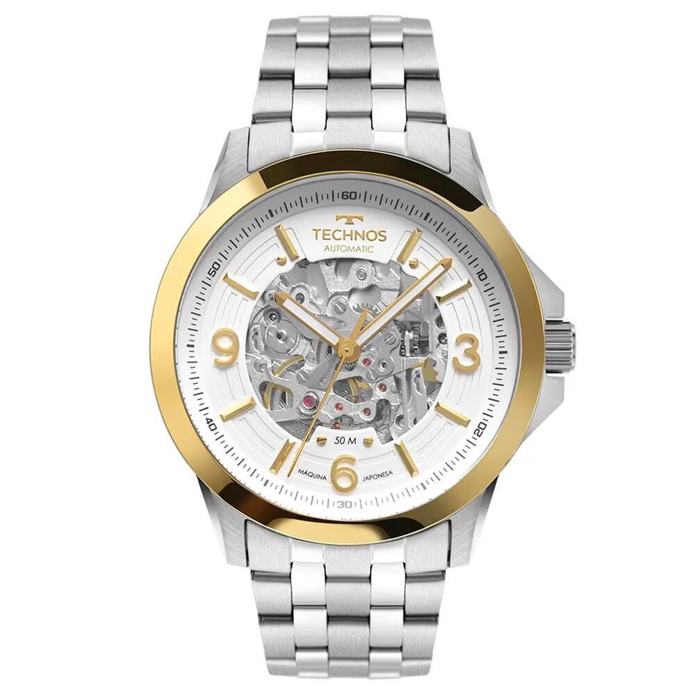 Relógio de Pulso Technos Masculino com Máquina Exposta 8N24AL