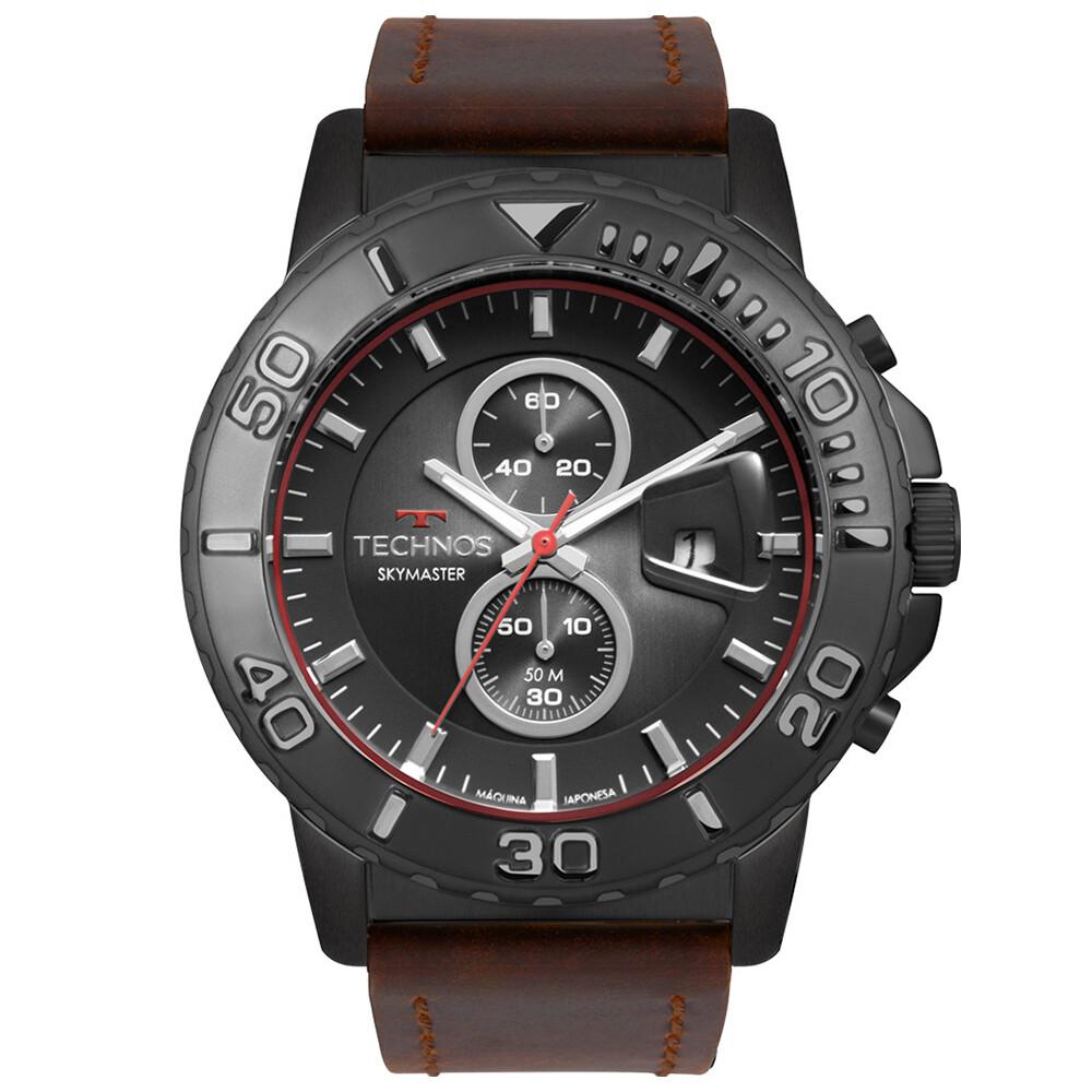 Relógio de Pulso Technos Masculino com Pulseira de Couro OS11EB