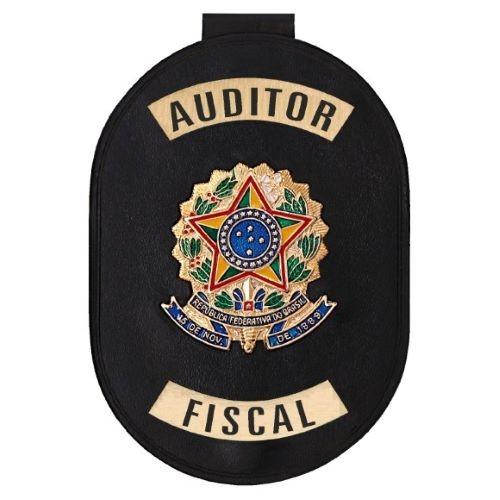 Distintivo com Corrente e Clips para Auditor Fiscal