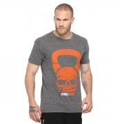 Camiseta Kvra New Skull Bell - Cinza