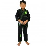 Kimono Jiu-Jitsu Infantil Kvra Alfa - Preto