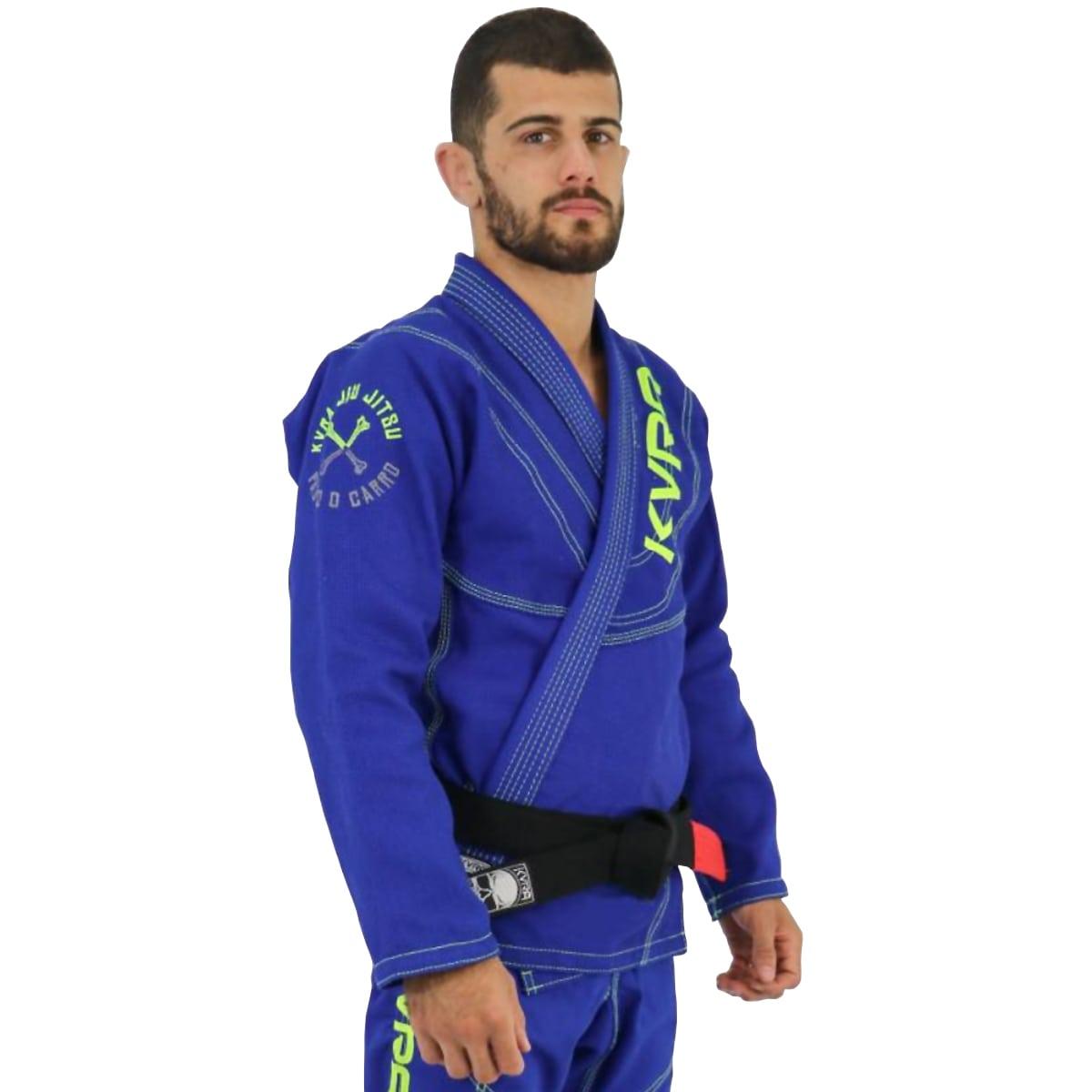 Kimono Jiu-Jitsu Adulto Kvra Shadow - Azul