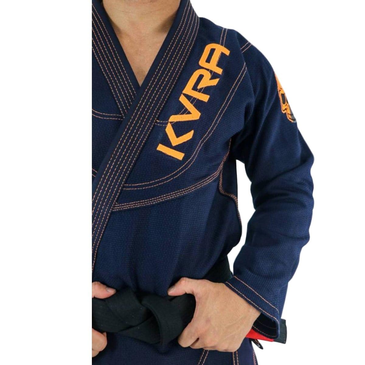Kimono Jiu-Jitsu Adulto Kvra Shadow - Azul Marinho