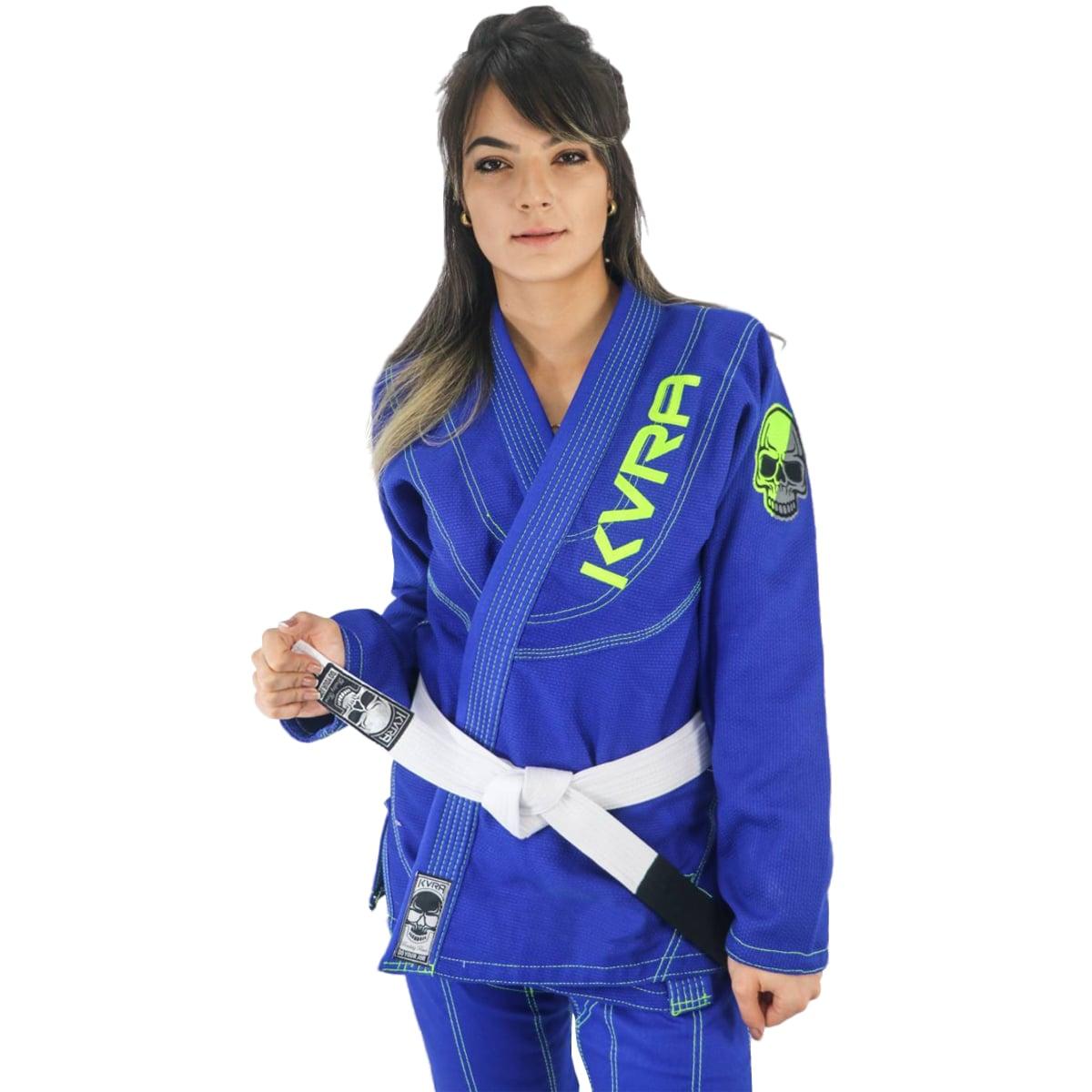 Kimono Jiu-Jitsu Feminino Kvra Shadow - Azul