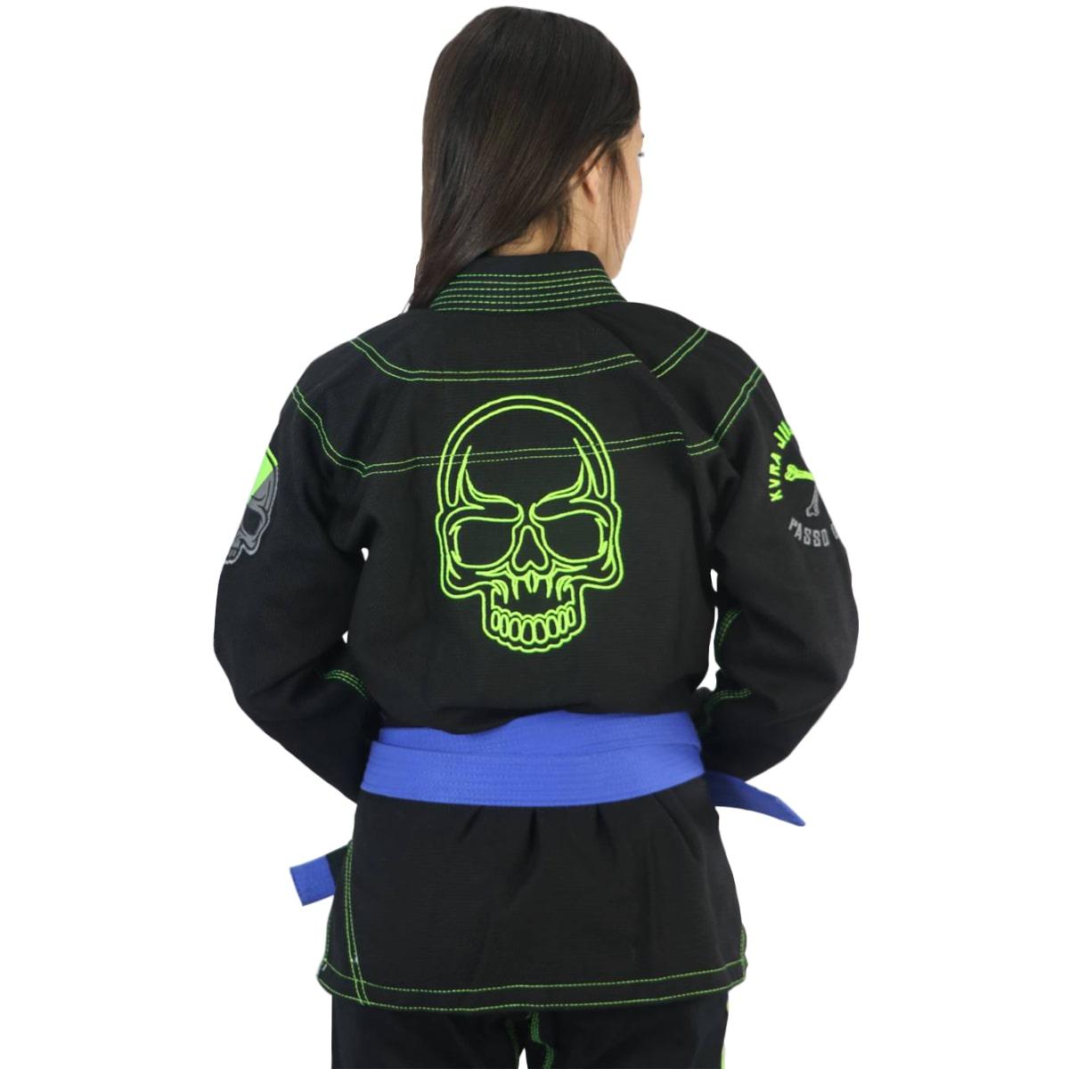 Kimono Jiu-Jitsu Feminino Kvra Shadow - Preto