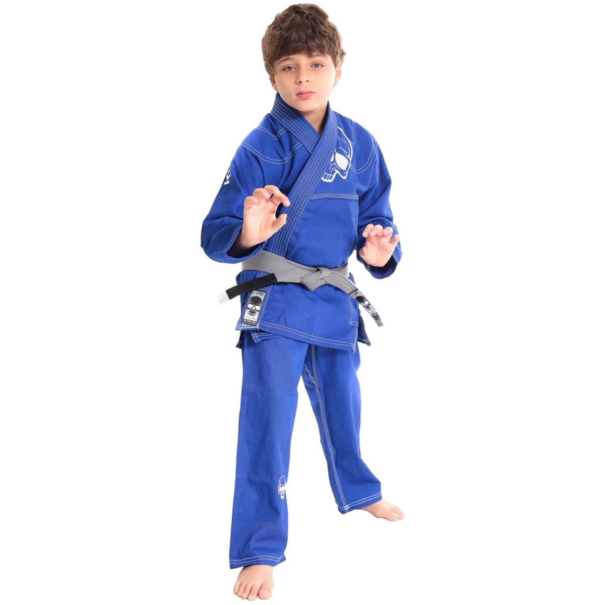 Kimono Jiu-Jitsu Infantil Kvra Alfa - Azul