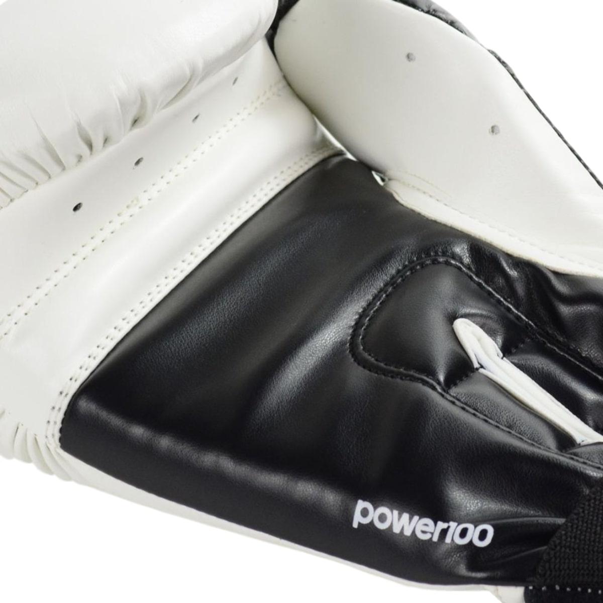 Luva Boxe Adidas Power 100 Colors - Branco