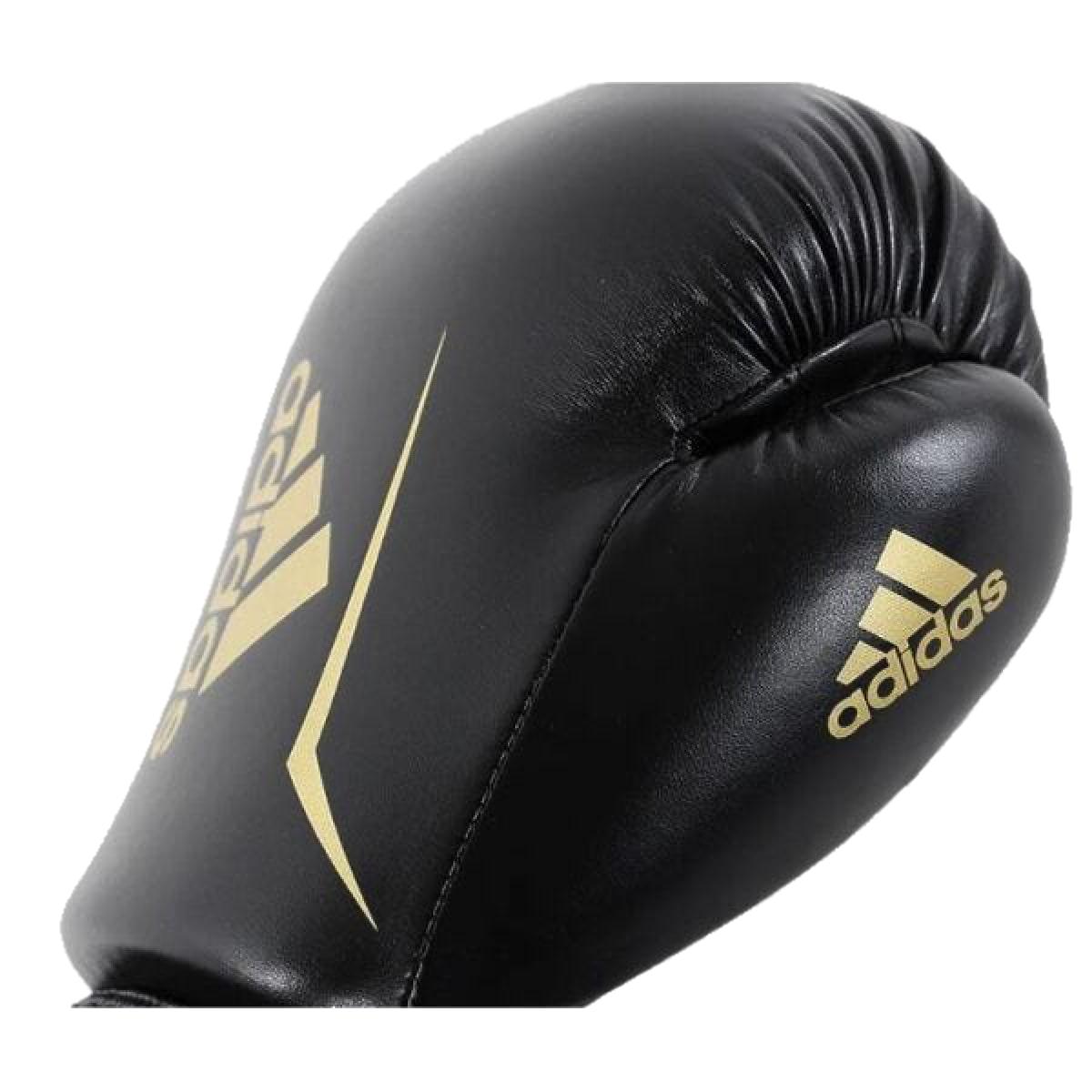 Luva Boxe Adidas Speed 50 - Preto e Dourado