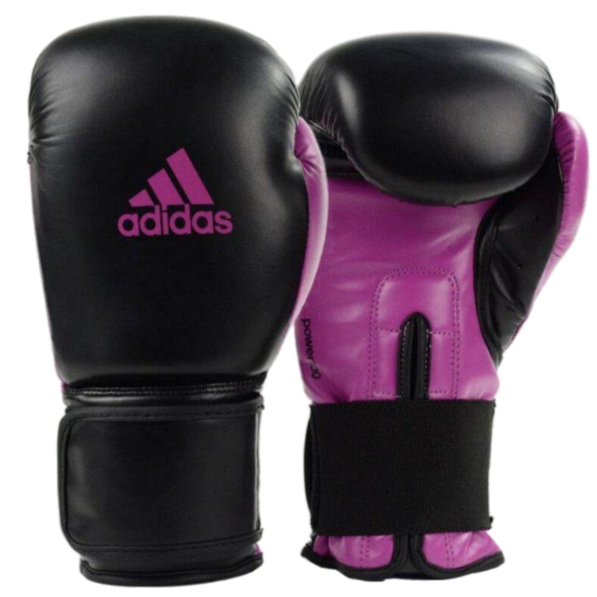 Luva Boxe Adidas Power 100 Colors - Preto e Rosa