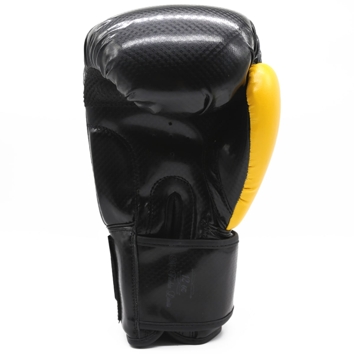 Luva de Boxe Pretorian Black Line - Preto e Amarelo