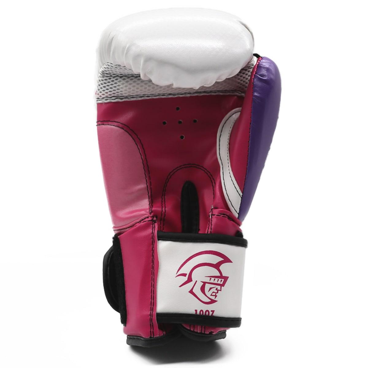 Luva de Boxe Pretorian Elite Training - Branco e Rosa