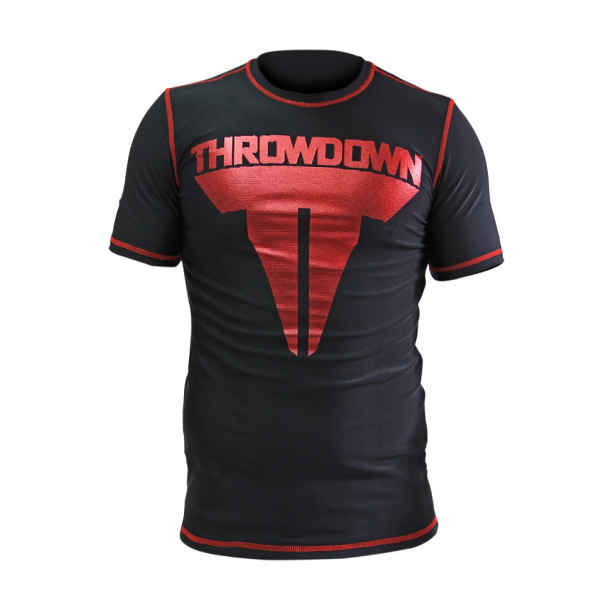 Rash Guard Throwdown Smash - Preto e Vermelho