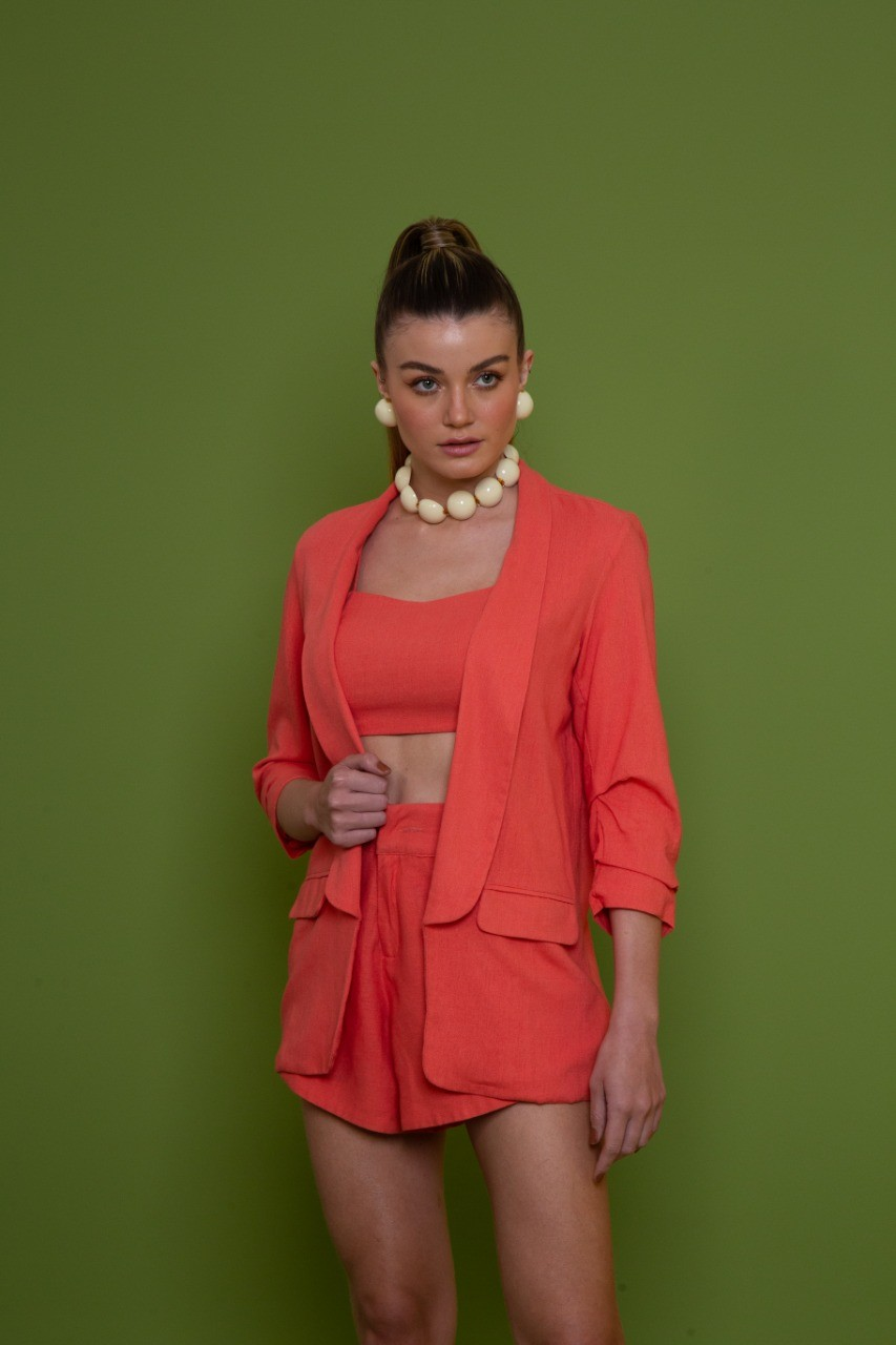 BLAZER CROPPED PLISS