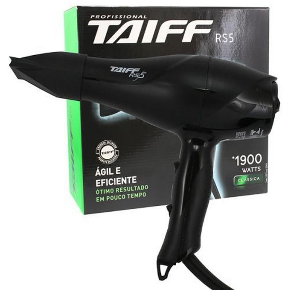 Secador De Cabelo Profissional Taiff Rs5 1900w - Preto - 127v