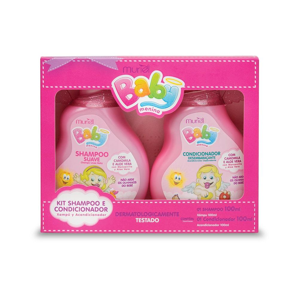 Muriel Kit Baby Menina Shampoo e Condicionador - 100ml