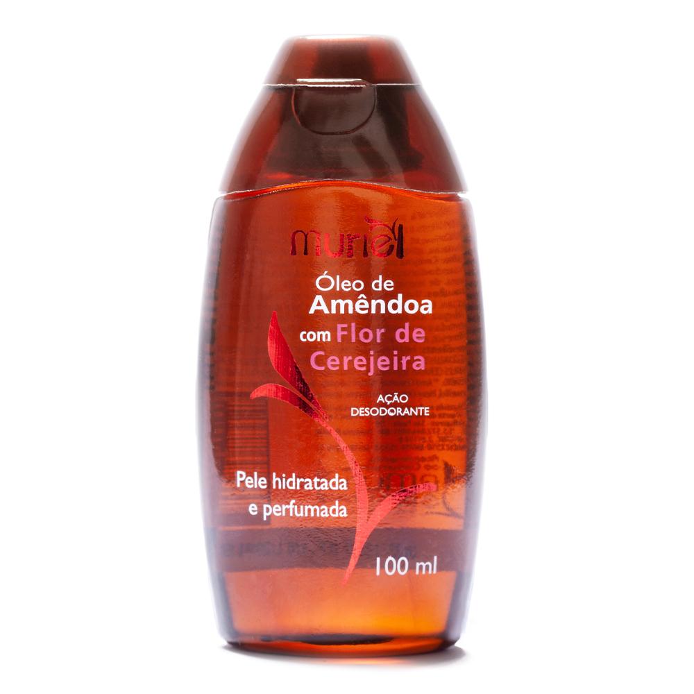 Óleo corporal de Amêndoas com Flor de Cerejeira 100ml ação desodorante