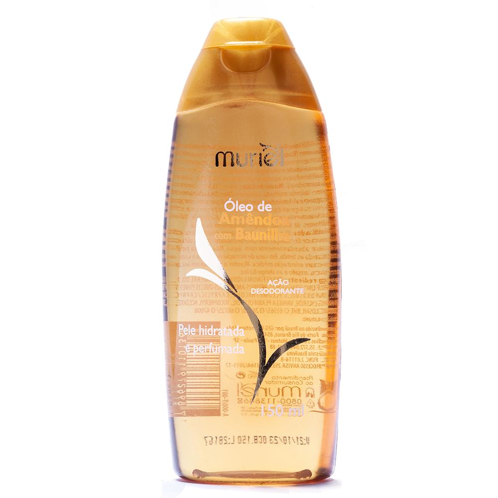 Óleo corporal de Amêndoas c/ Baunilha 150ml ação desodorante