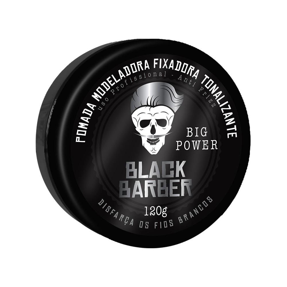 Muriel Pomada Modeladora Black Barber  Big Power 120g