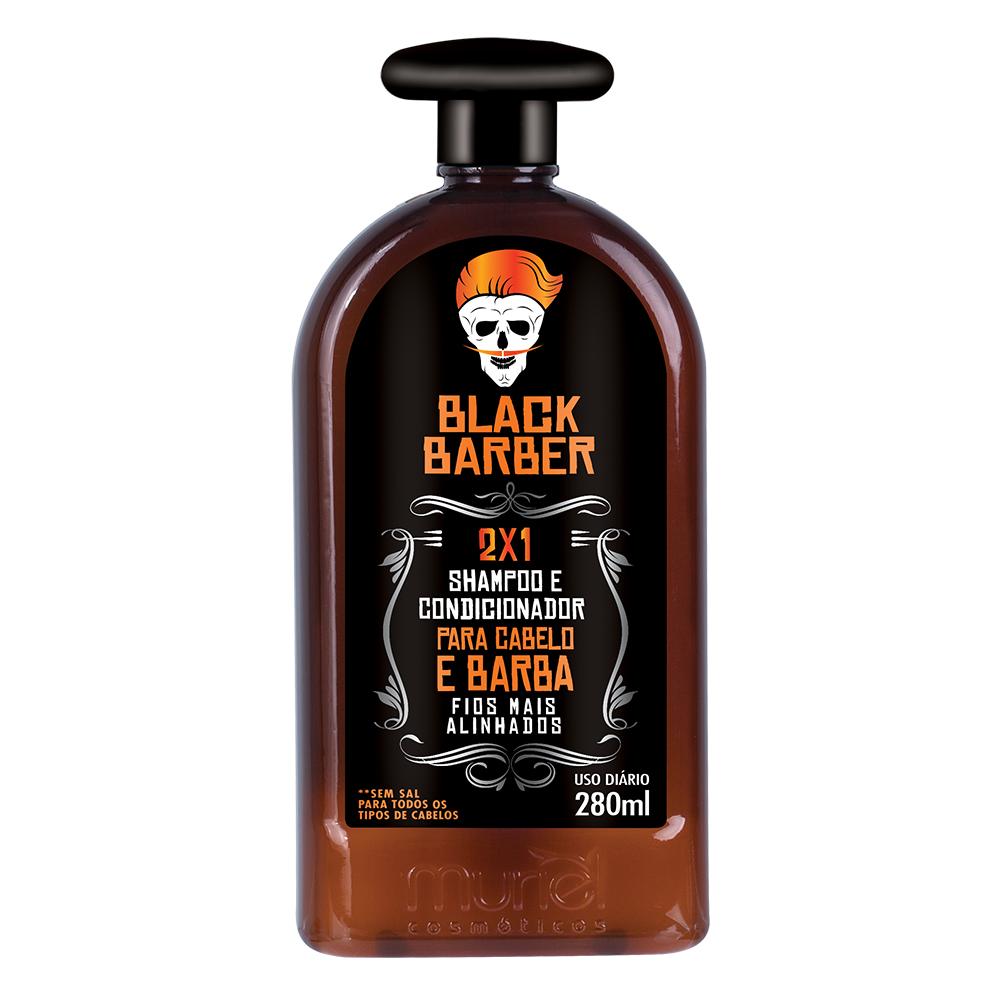 Muriel Shampoo e Condicionador Para Cabelo e Barba Masculina 300ml