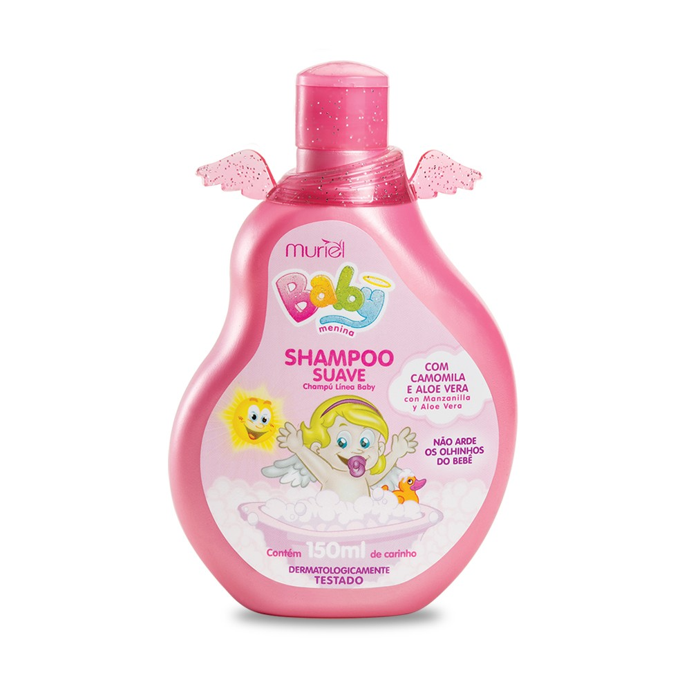 Shampoo Para Bebê Infantil Menina Baby Muriel 150ml