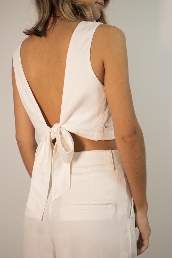 Blusa Laço Branca