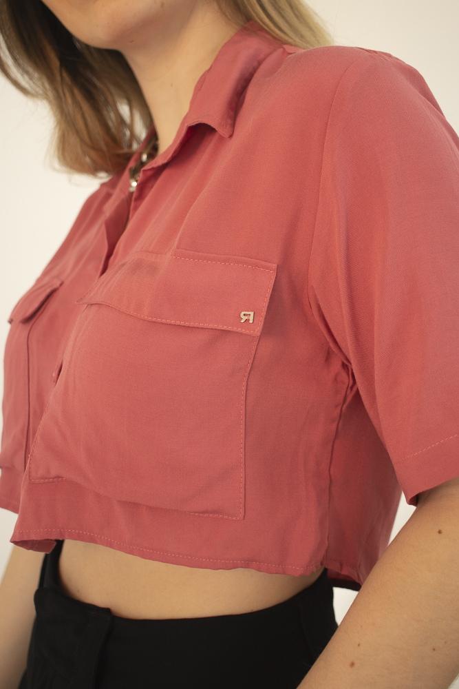 Camisa Cropped Goiaba