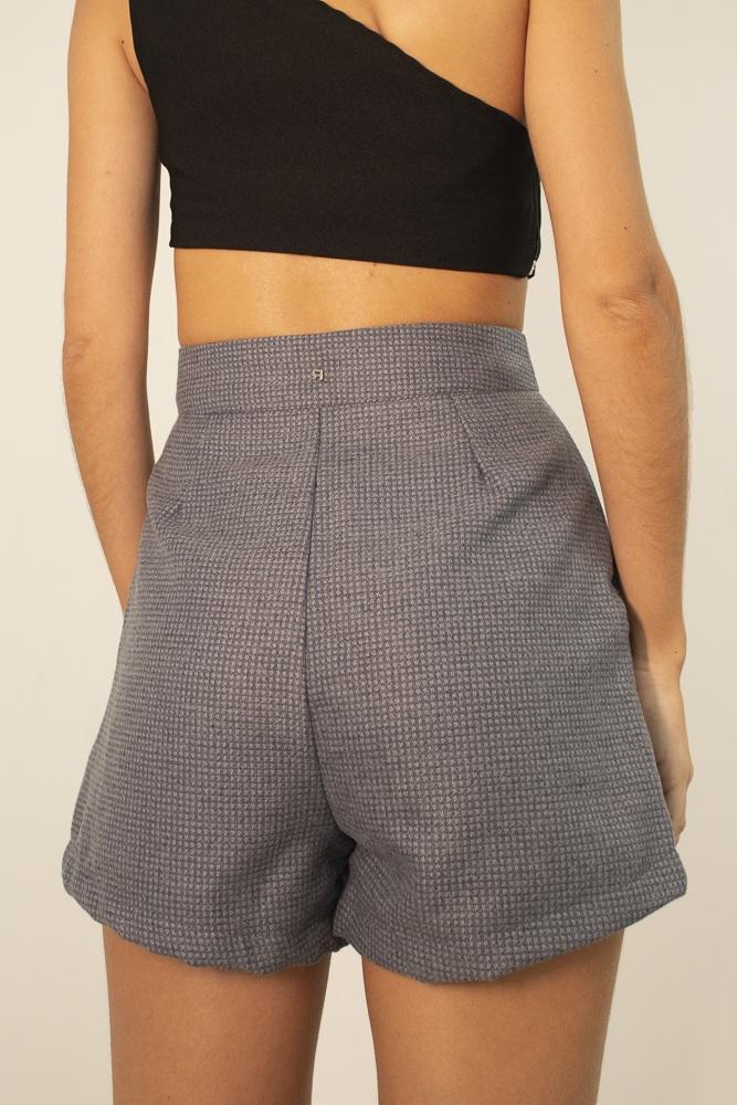 Shorts Alfaiataria Cinza
