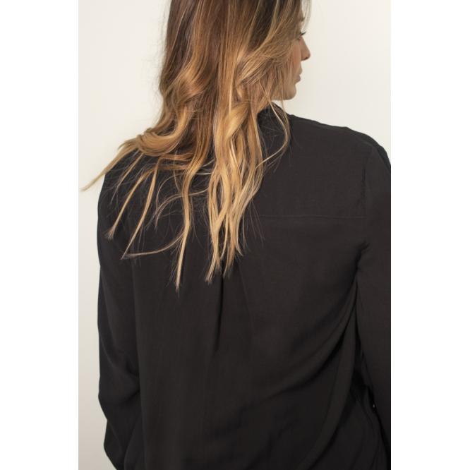 Vestido Camisa Preto