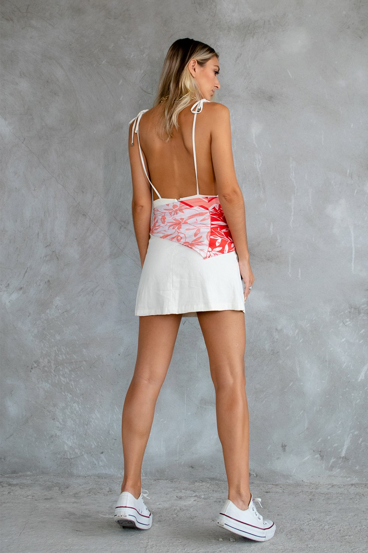 Vestido Laço Linho Off White