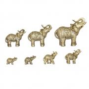 7 Elefantes Dourados Gold 22,5 Cm
