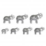 7 Elefantes Pratas Hindu 7 Cm