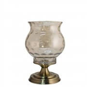 Castiçal Bronze  Luna M 30,5 Cm