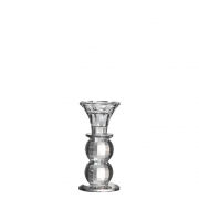 Castiçal de Cristal Lapidado Bauer M 12,5 Cm