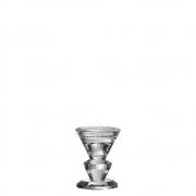 Castiçal de Cristal Lapidado Halle P 8,5 Cm