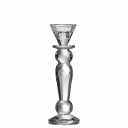 Castiçal de Cristal Lapidado Phlox P 22 Cm