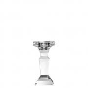 Castiçal de Cristal Lapidado Quadri P 14 Cm