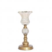 Castiçal Dourado Ipom P 34,5 Cm