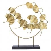 Estatueta Aro Folhas Dourado 62 Cm