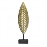 Estatueta Folha Dourada de Metal Velame 64 Cm