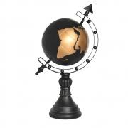 Estatueta Globo Preto e Dourado Astro 40 Cm