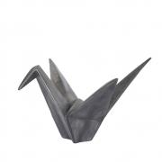 Estatueta Origami Prata 12,5 Cm