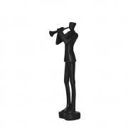 Estatueta Trumpet Preta 30 Cm