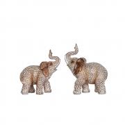 Estatuetas Conjunto 2 Elefantes Bali 15 Cm