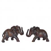 Estatuetas Conjunto 2 Elefantes Lanka 21 Cm