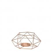 Lanterna Aramada Dourada Poligon 13 Cm