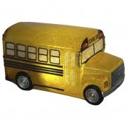 Luminária Infantil Led Ônibus Escolar Amarelo 22,5 Cm