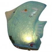 Luminária Infantil Led Peixe Azul 20 Cm